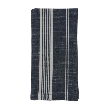 Saro Lifestyle Striped Cotton Dinner Napkins - Set of 4