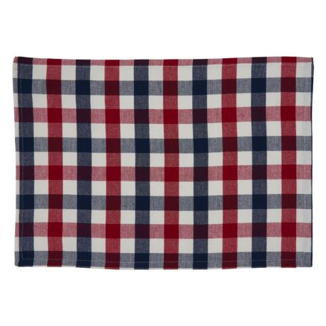 Saro Lifestyle Gingham Check Cotton Placemats - Set of 4
