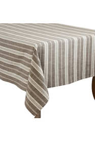 Saro Lifestyle 70x70 Striped Cotton Square Tablecloth