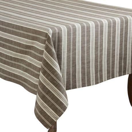 Saro Lifestyle 65x160 Striped Cotton Rectangle Tablecloth