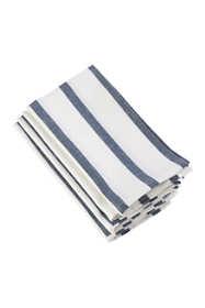 Saro Lifestyle Striped Print Cotton Dinner Napkins - Set of 4