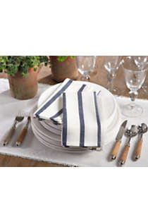 Saro Lifestyle Striped Print Cotton Dinner Napkins - Set of 4, alternative image