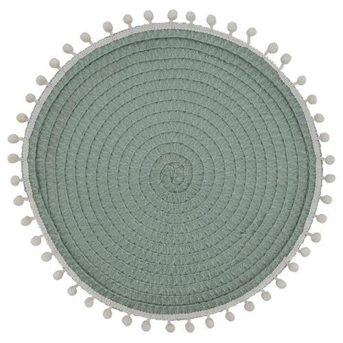 Saro Lifestyle Pom Pom Round Placemats - Set of 4