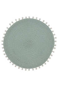 Saro Lifestyle Pom Pom Round Placemats - Set of 4