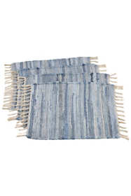 Saro Lifestyle Chindi Woven Cotton Placemat - Set of 4