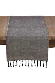 Tasseled Cotton and Jute Table Runner