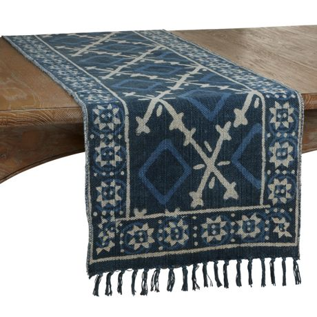 Saro Lifestyle Distressed Cotton Rug Runner