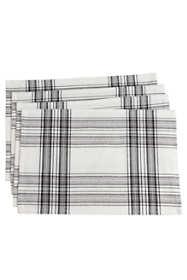 Saro Lifestyle Classic Plaid Cotton Placemats - Set of 4