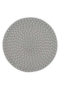 Saro Lifestyle Round Woven Placemats - Set of 4, Back