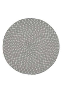 Saro Lifestyle Round Woven Placemats - Set of 4, Front