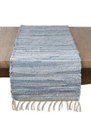 Saro Lifestyle Chindi Woven Cotton Table Runner