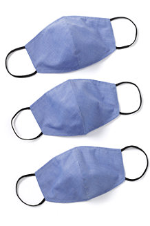 Adults' Reusable Face Covering Masks, 3 Pack