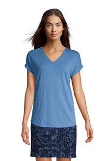 Shirt mit V-Ausschnitt für Damen