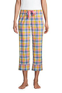 Women's Cotton Cropped Poplin Pyjama Bottoms