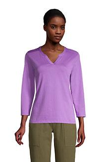 Supima-Shirt mit Tunika-Ausschnitt für Damen