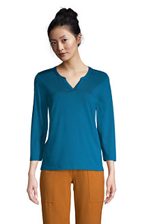 Women's Supima Split Neck Top
