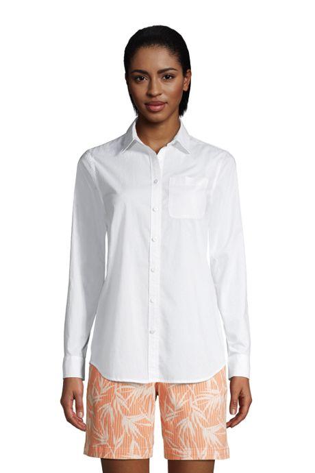 Women's Tall Cotton Boyfriend Fit Long Sleeve Tunic Top