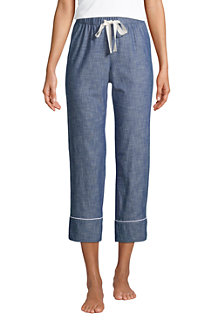 Women's Cotton Chambray Pyjama Bottoms