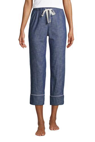 Chambray-Pyjamahose für Damen
