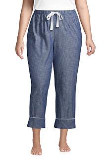 Women's Cotton Chambray Pyjama Bottoms