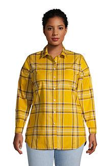 Women's Cotton Boyfriend Fit Long Sleeve Tunic Top