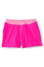 Girls Plus Size Soft Elastic Waistband Swim Shorts