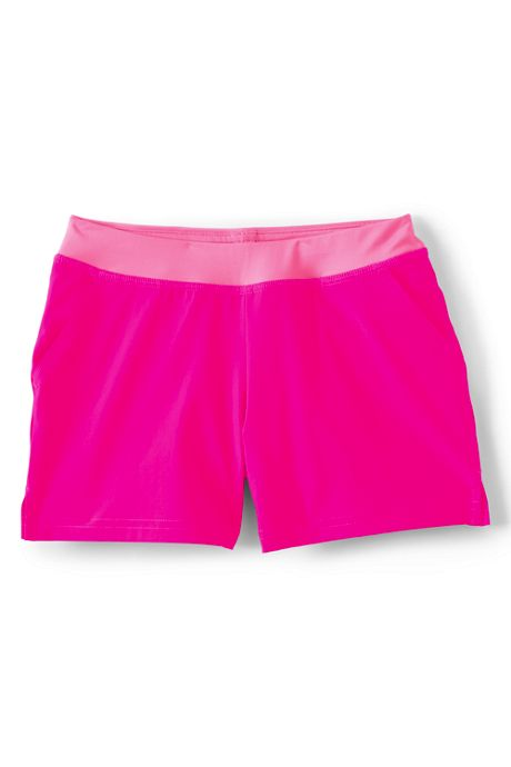 Girls Soft Elastic Waistband Swim Shorts