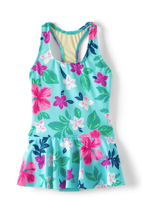 Girls Skirted One-Piece Swimsuit