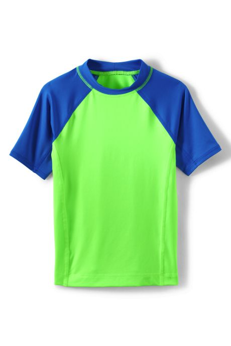 Boys Husky Short Sleeve Solid Rash Guard