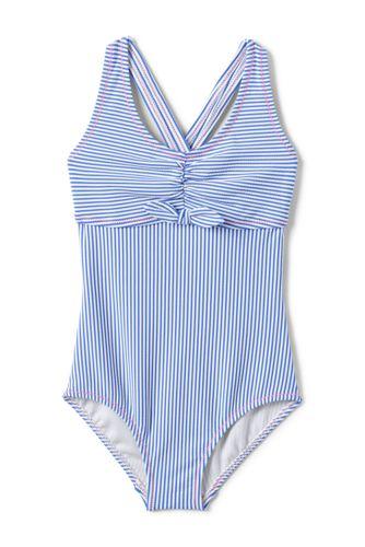 Girls' Seersucker Swimsuit