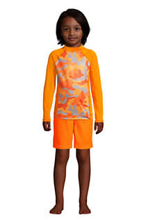 Boys Husky Long Sleeve UPF 50 Swim Rash Guard, alternative image