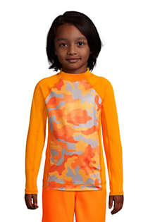 Boys Husky Long Sleeve UPF 50 Swim Rash Guard, Front
