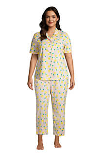 Women's Plus Size Cotton Poplin Pajama Crop Pants, alternative image