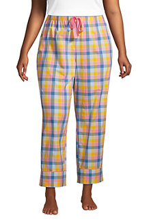 Women's Cotton Cropped Poplin Pyjama Bottoms