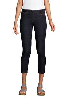 High Waist 7/8-Leggings-Jeans mit Stretch in Indigo für Damen