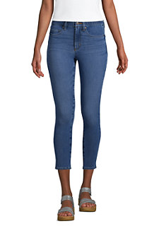 Women's High Waisted Cropped Stretch Legging Jeans