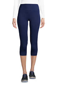 Women's Petite Active Compression Slimming Pocket Capri Leggings