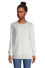 Women's Serious Sweats Reversible Crewneck Long Sleeve Sweatshirt Tunic