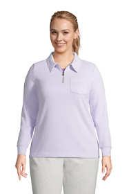 Women's Plus Size Long Sleeve Serious Sweats Quarter Zip Sweatshirt