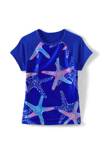 Girls' Short Sleeve Crew Neck Rash Vest