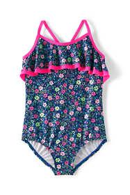 Girls Plus Size Ruffle One Piece Swimsuit