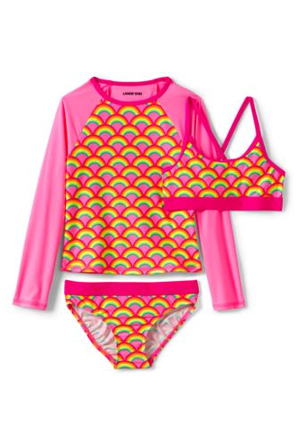 Girls' Three Piece Rash Vest Set