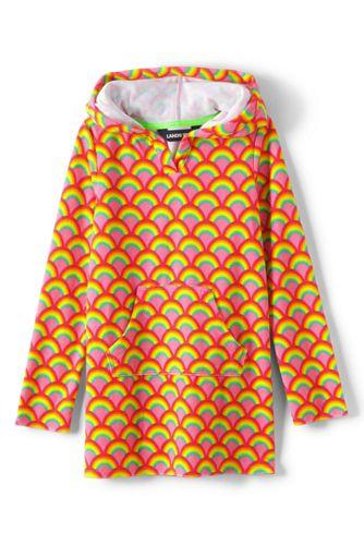 Frottee-Kapuzenkleid mit Kängurutasche für Mädchen