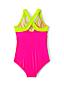 Badeanzug mit Blockfarbendesign für Mädchen