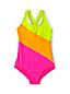 Girls' Colourblock X-back Swimsuit