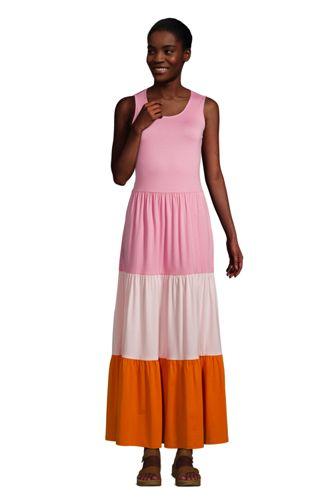 Maxi Robe Sans Manches à Volants, Femme Stature Standard