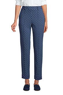 Pantalon Fuselé Imprimé Sport Knit Taille Haute, Femme