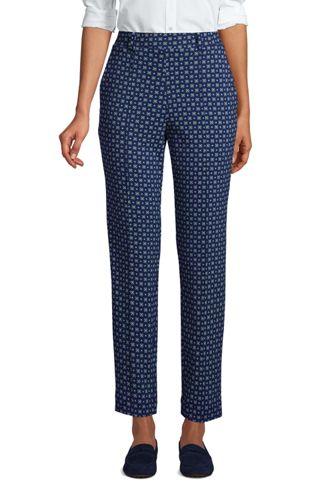 Pantalon Fuselé Imprimé Sport Knit Taille Haute, Femme Stature Standard