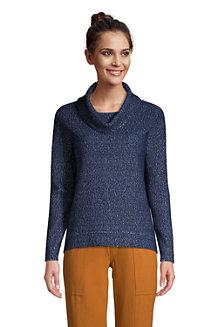 Women's Long Sleeve Textured Cowl Neck Sweatshirt