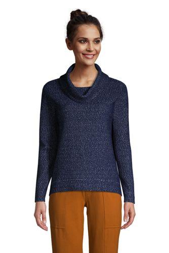 Bouclé-Sweatshirt mit Wasserfallkragen für Damen